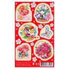 """Наклейки """"Цветы"""" конверты и корзинки с цветами, 92 х 152 мм"""