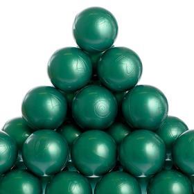 Набор шаров для бассейна 500 шт. (цвет зелёный металлик)