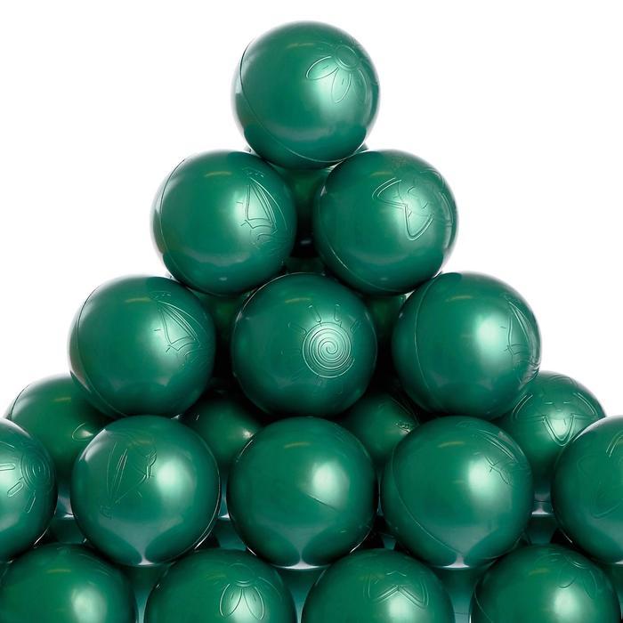 Набор шаров для бассейна 500 шт (зеленый металлик)