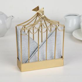 Салфетница «Карнавал», 17.6×10×4 см, цвет золотой