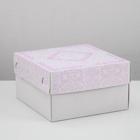 Confectionery packaging, box, 1kg, purple, 21 x 21 x 12 cm