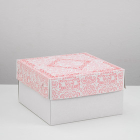 Confectionery packaging, box, 1 kg, red, 21 x 21 x 12 cm