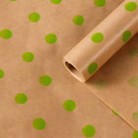 "Paper, wrapping, Kraft ""Pea green"", 0.6 x 10 m, 40 g/m2"