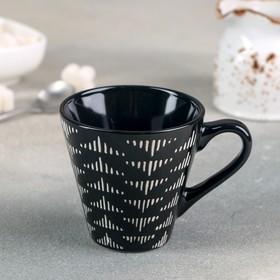 Кружка Доляна «Штрихи», 180 мл, 11×8,2×77 см, цвет чёрный
