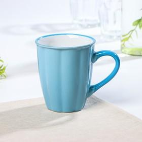 Кружка Доляна «Маршмэллоу», 360 мл, 11,5×7,8×10,7 см, цвет голубой
