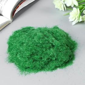 """Декор для создания миниатюр (деревья, газон) порошок флок """"Светло-зелёный"""" набор 30 гр"""