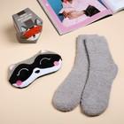 Набор «Енотик»: маска для сна, носки one size