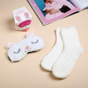 Набор «Зайкины сны»: маска для сна, носки one size