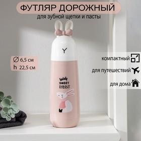 Футляр для зубной щётки и пасты «Кролик», цвет МИКС