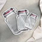 A set of bags for food storage 3 piece 15х9,5/19,5h11,7/24,4х14,5, zip-lock, MIX color
