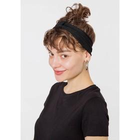 Повязка на голову женская, цвет чёрный, размер 56 Ош
