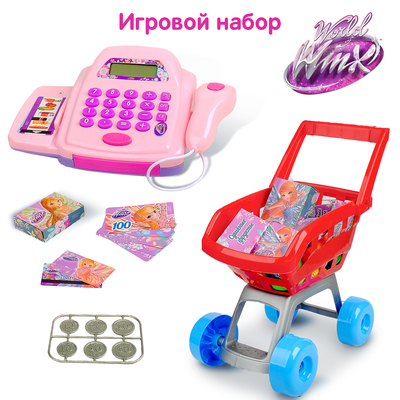 "Toys ""Grocery cart with the cashier"", WINX fairies, 30 items SL-00933 287458"