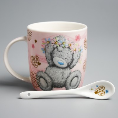 "Mug set with spoon Me To You ""Beloved mother"", 350 ml"
