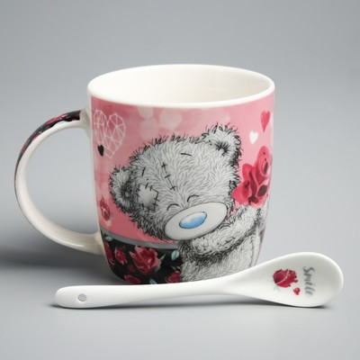 "Mug set with spoon Me To You ""Smile more"", 350 ml"