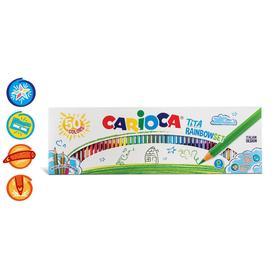 """Карандаши 50 цветов Carioca """"Tita"""", 3.0 мм, шестигранные, пластиковые, картон, европодвес"""
