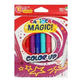 """Фломастер 6 цветов Carioca """"Magic Color Up"""" +2 перекрашивающие, 6.0 мм, утолщенная линия, картон, европодвес"""
