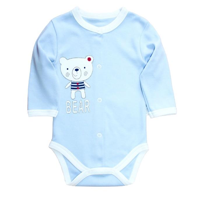 Боди c окантовкой для малышей «Мишка-Тедди», рост 62 см