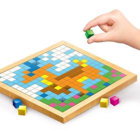 Мозаика. Цветные кубики «Лесные животные»