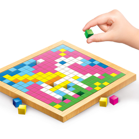 Мозаика. Цветные кубики «Мир девчонок»