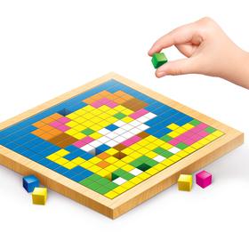 Мозаика. Цветные кубики «Животные фермы»
