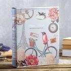 """Фотоальбом на 200 фото 13х18 см """"Велосипед и птица"""" в коробке, с зол.об МИКС 30х23,5х5,5 см   462883 - фото 837577"""