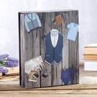 "Photo album for 200 photos 10x15 cm ""Men's closet"" in a box, about.element MIX 26х20,5x5,5 cm 46288"
