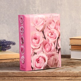 "192 photo album for pictures 10x15 cm ""Pink rose"" 22,5x17,5x5,5 cm"