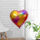 "Balloon foil 18"" Heart multi-colored"