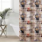 Штора для ванной комнаты «Камни», 180×180 см, полиэстер
