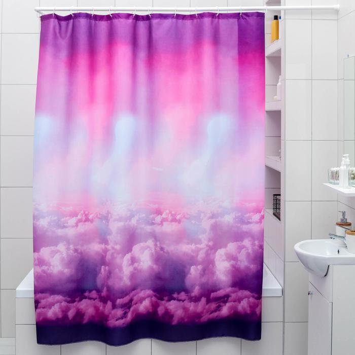 Штора для ванной комнаты «Небо», 180×180 см, полиэстер