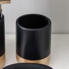 """Наборы аксессуаров для ванной комнаты, 3 предмета """"Руж"""", цвет чёрный - фото 4649324"""