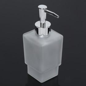 Дозатор для жидкого мыла «Квадро», 250 мл, стекло, матовый