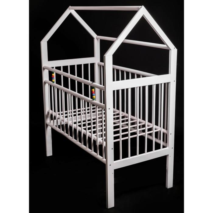 Кровать детская Женечка-8 домик, цвет белый
