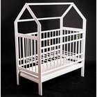 Кровать детская Женечка-10 домик,ящик, цвет белый - фото 105549565