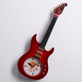 """Часы настенные """"Гитара"""", микс, 11х38 см"""