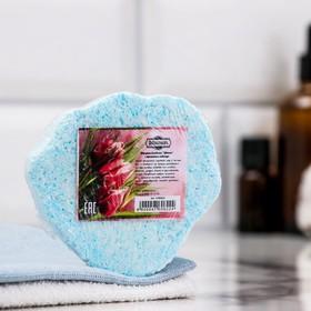 "Шипучая бомбочка ""Цветок"" с ароматом лаванды, голубая - фото 1634191"