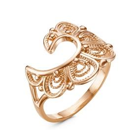 "Кольцо ""Веер"", позолота, 17,5 размер"