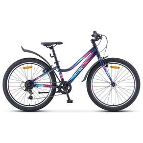 "Велосипед 24"" Navigator-420 V, V030, цвет тёмно-синий, размер 13"""
