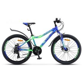 """Велосипед 24"""" Stels Navigator-450 MD, V030, цвет синий/неоновый/зелёный, размер 13"""""""
