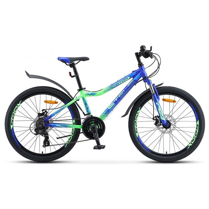 """Велосипед 24"""" Stels Navigator-450 MD 24"""" V030, цвет синий/неоновый/зелёный, размер 13"""""""