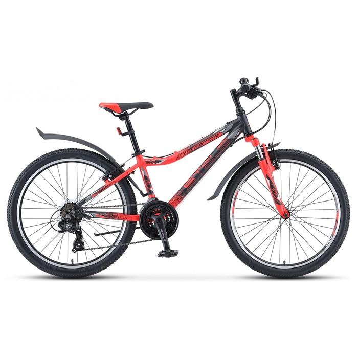 """Велосипед 24"""" Stels Navigator-450 V 24"""" V030, цвет чёрный/неоновый/красный размер 13"""""""