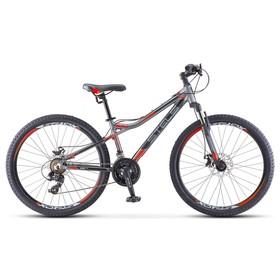 "Велосипед 26"" Stels Navigator-610 MD, V040, цвет антрацитовый/красный, размер 14"""