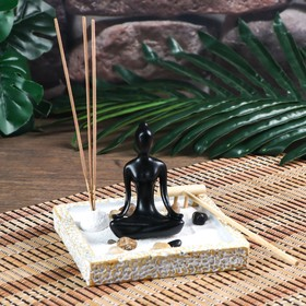 "Сад Дзен ""Медитация"" с аромапалочкой 9,5х12х12 см"
