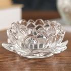 "Glass candle holder 1 candle ""Lotus"" transparent 4х9,5x9,5 cm"