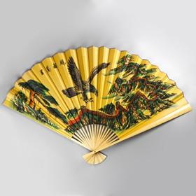 Fan wood, paper eagle a MIX of 90 cm