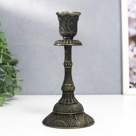 """Подсвечник металл на 1 свечу """"Раджа"""" бронза 16,5х8х8 см"""