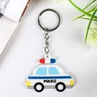 """Keychain rubber """"Machine police"""" 4x6 cm"""