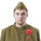 Набор военного «Гвоздика», пилотка, брошь, обхват головы 56 см
