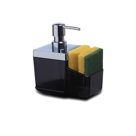 Дозатор с губкой для кухни Toskana, цвет чёрный