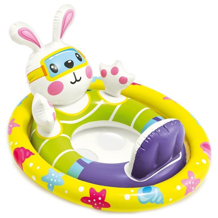 Круг для плавания с сиденьем «Зверюшки», от 3 до 4 лет, МИКС 59570NP INTEX - фото 379597486